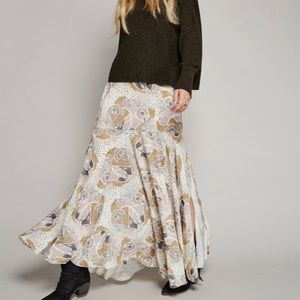 Free people pebble maxi skirt size 0